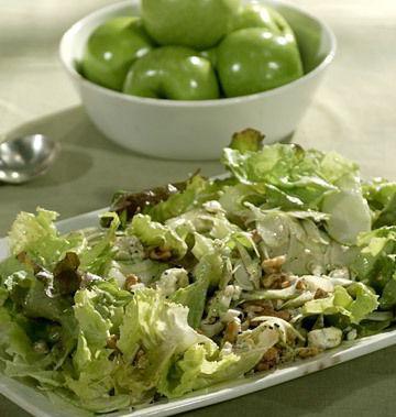 салат белая береза с яблоками