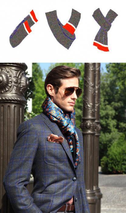 Как носить шейный платок мужской