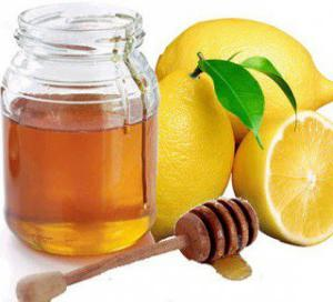 honey with water and lemon