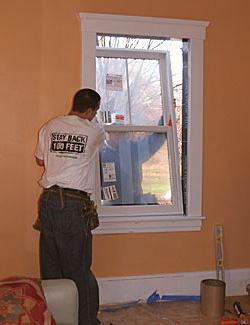 installation of plastic windows in a wooden house instruction