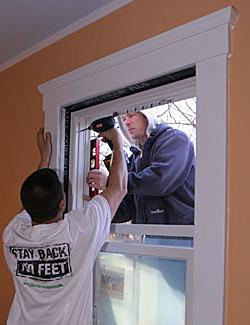 correct installation of plastic windows in a wooden house