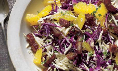 рецепт салат из красной капусты с уксусом