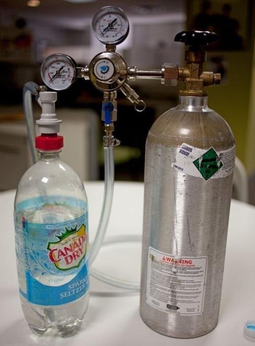 Как сделать воду с газом