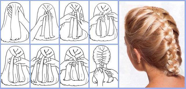Как заплетать две косы самой себе