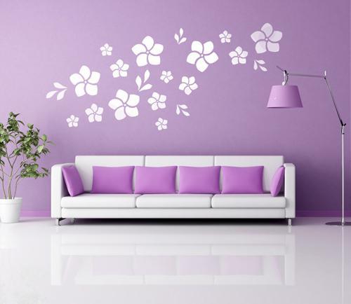 Трафареты для стен цветы фото