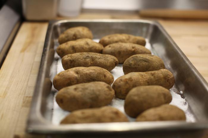 new potatoes in uniform