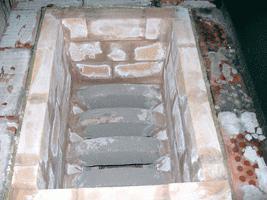 simple brick stove for a bath