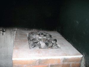 brick stove for sauna stove