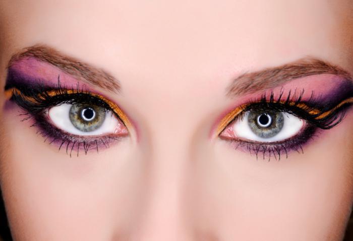 макияж для голубо серых глаз