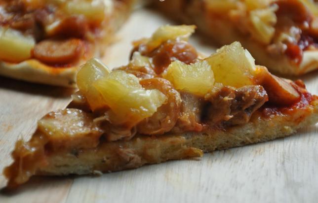 начинка для пиццы с курицей и ананасами рецепт
