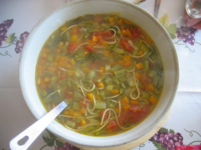 minestrone vegetable soup recipe