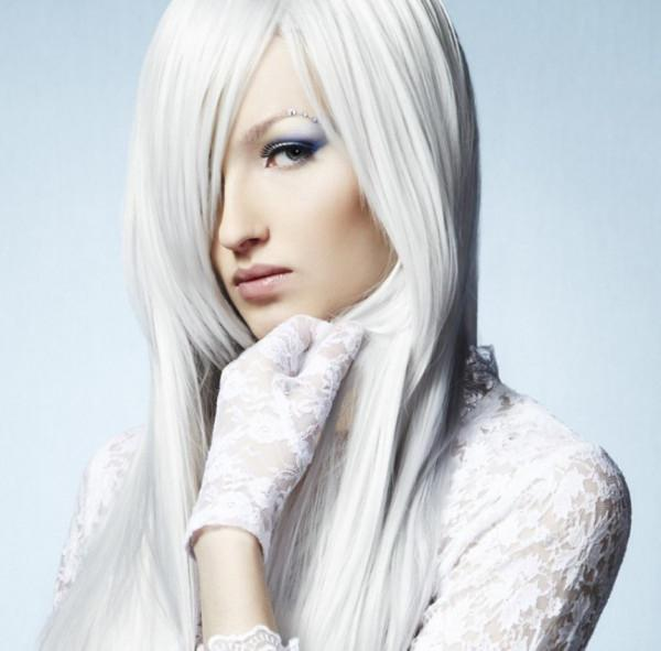 white hair photo