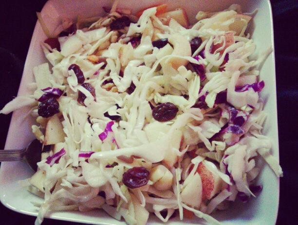 salad cabbage vinegar sugar