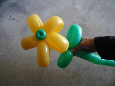 цветы из воздушных шариков