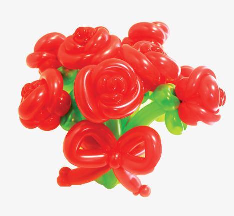 цветы из шариков мастер класс