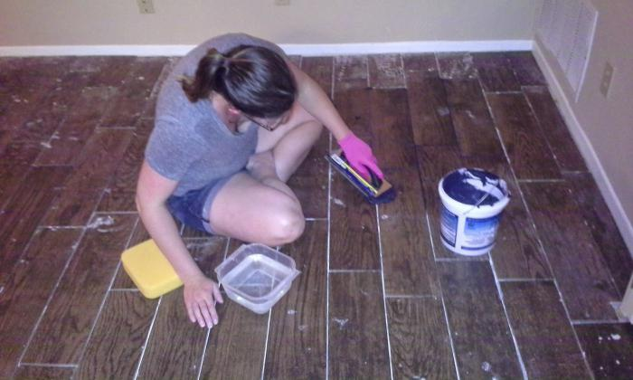 how to properly rub the seams of tiles