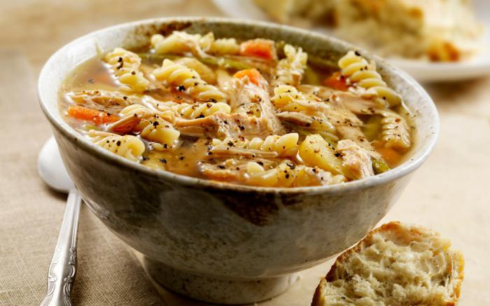 Turkey soup in a slow cooker