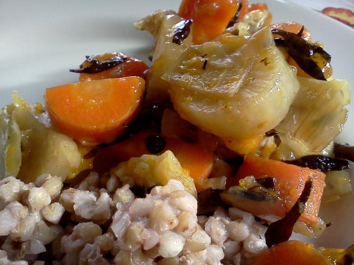 how to cook buckwheat with vegetables