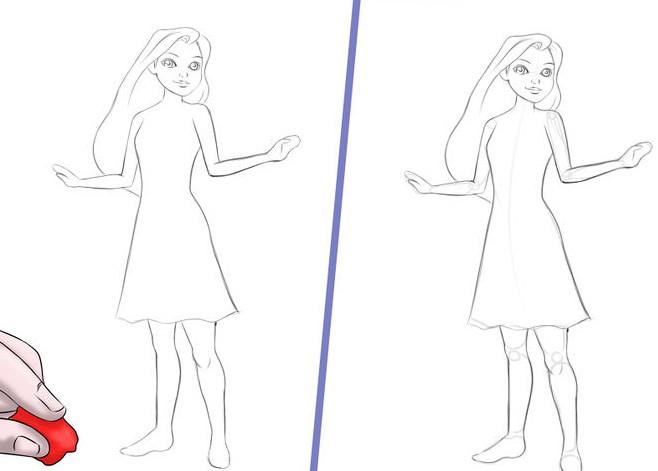 Как нарисовать куклы