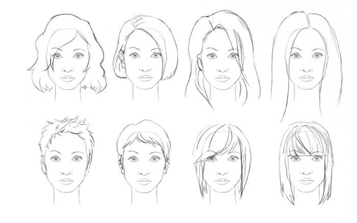 Как нарисовать волосы аниме поэтапно