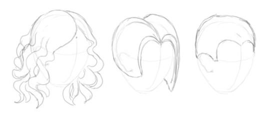 Волосы человека как нарисовать