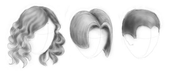 как правильно нарисовать волосы у девушки