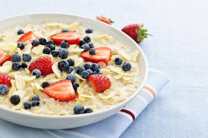 oatmeal on the water slimming