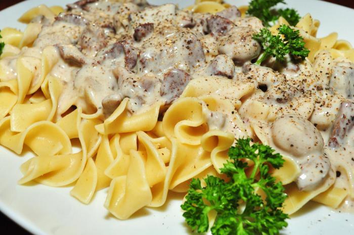 рецепт бефстроганов из говядины с грибами и сливками рецепт #9