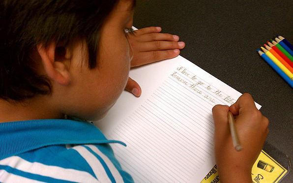 как улучшить почерк у подростка