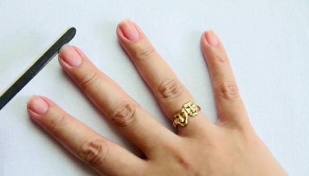 как самой сделать форму ногтей