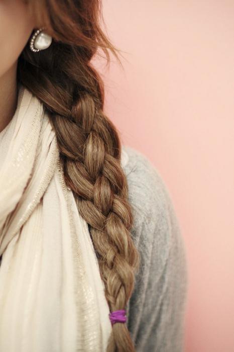 плетём косу из 4 прядей