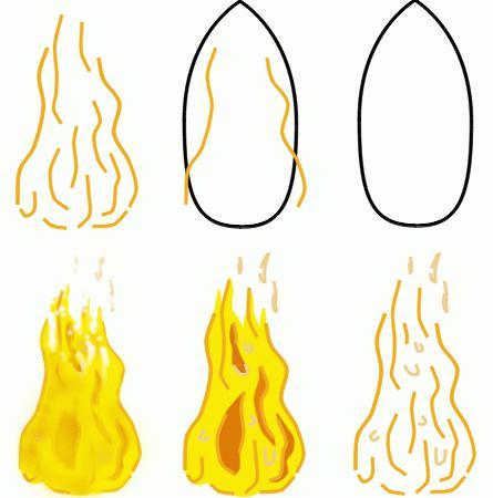 Нарисовать рисунок огонь-друг