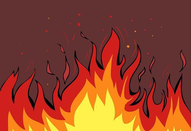 огонь рисунок: