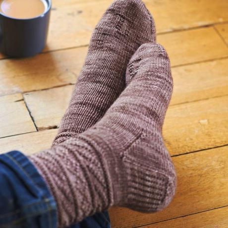 Видеоурок связать носки спицами