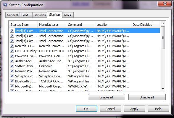 Optimize computer performance, Windows 7