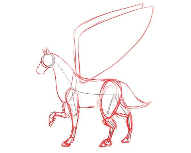 how to draw a unicorn pencil in stages