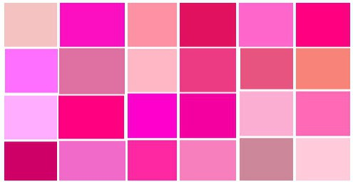 какой цвет сочетается с розовым