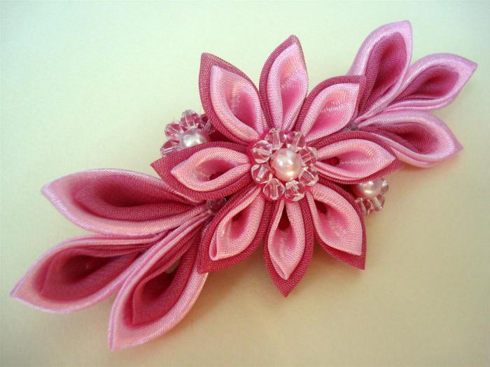 Как своими руками сделать розу канзаши из атласной ленты