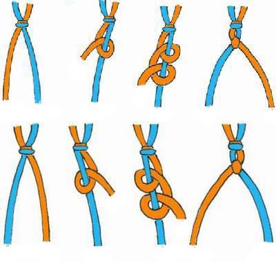 Как сделать браслет из ленточек схемы