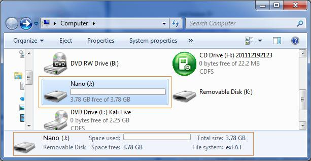 how to change file system of usb drive without formatting