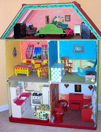 Как сделать большой дом для кукол фото 355