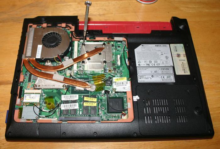 Замена термопасты в ноутбуке Msi