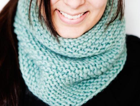 шарф хомут спицами схема