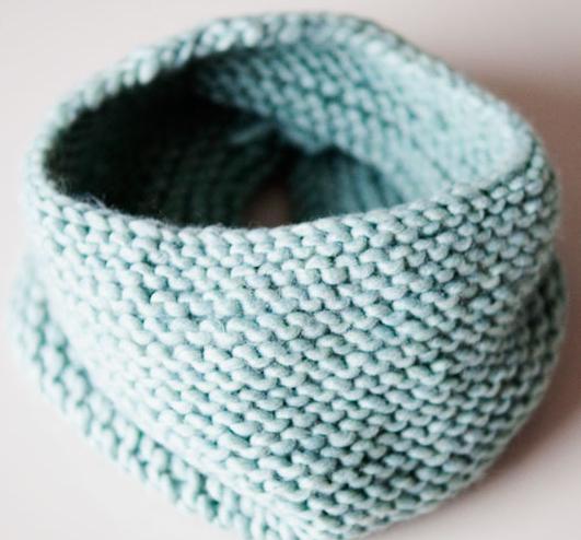 Связать простой шарф хомут