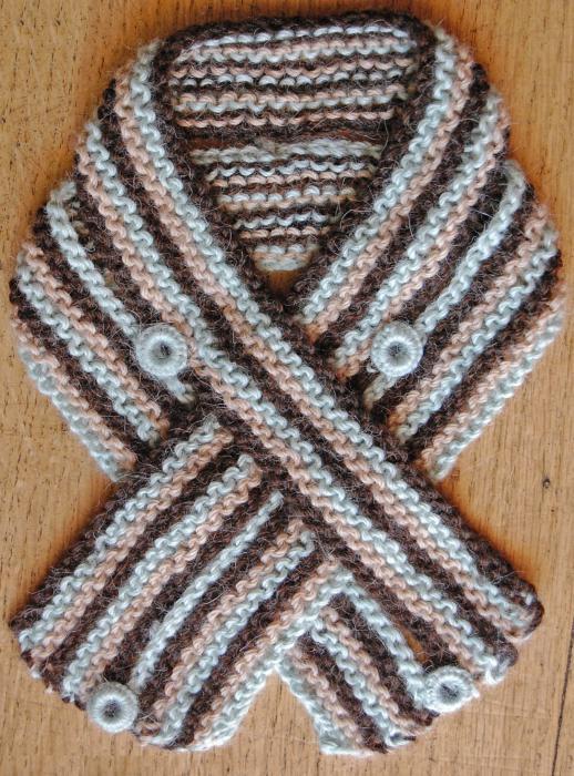Вязание спицами разные цвета ниток