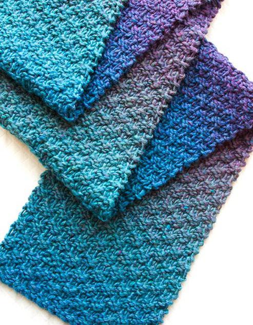 Узор для мужского шарфа спицами для начинающих