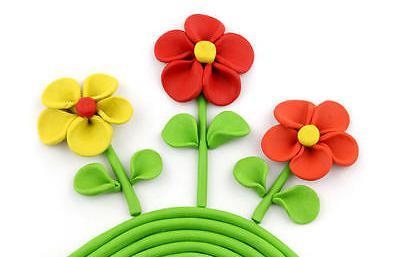 цветы фото из пластилина