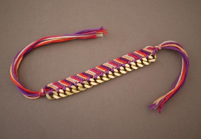 Как плести фенечку косым плетением по схеме