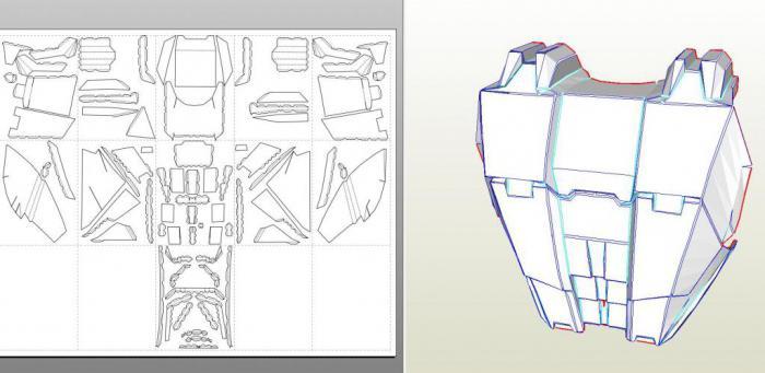 Как сделать костюм железного человека из бумаги фото 995