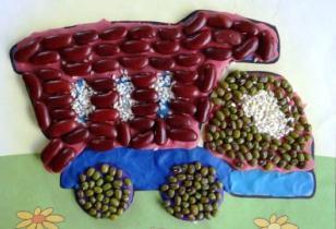 Поделки для детей пластилин и крупа